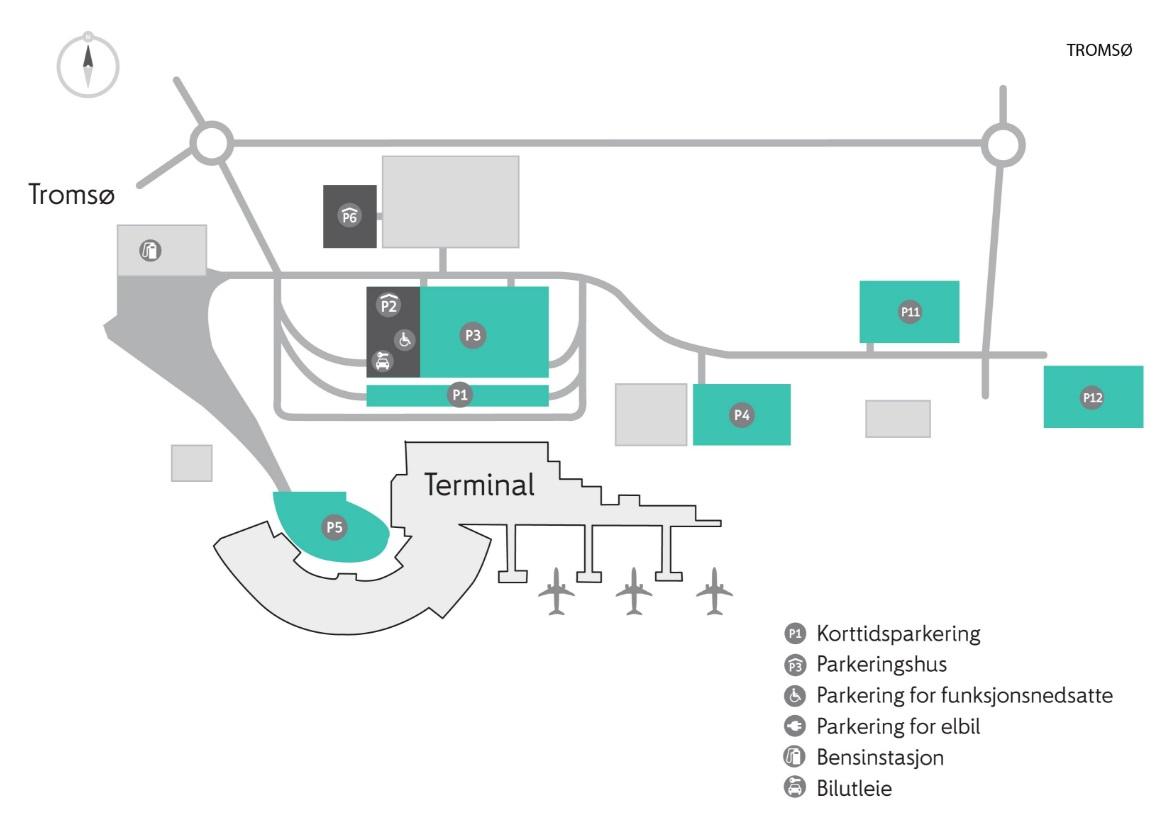 kart over værnes lufthavn Tromsø lufthavn   APCOA Parking kart over værnes lufthavn